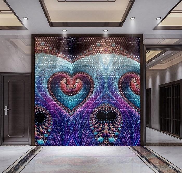 3D metal wall panel