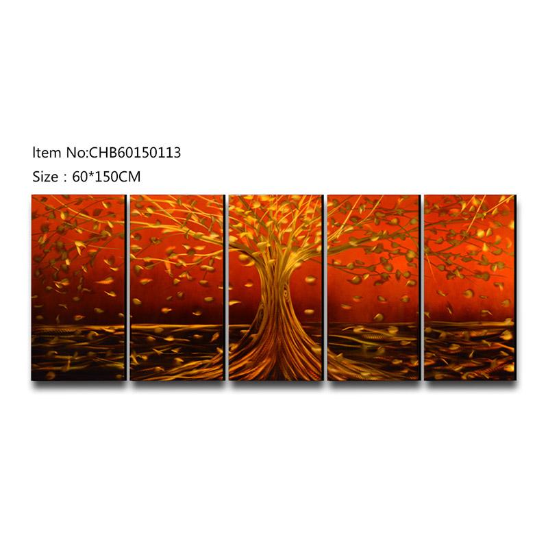 Rich tree 3D handmade oil painting modern metal wall art decoration