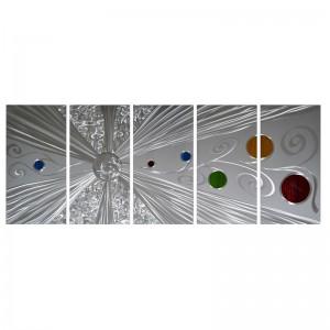 Abstract 3D handmade oil painting modern metal wall art decoration