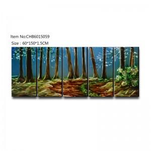 Forest 3D handmade oil painting modern metal wall art decoration
