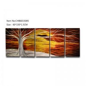 Life of tree 3D handmade oil painting modern metal wall art decoration